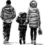 Family at walk Royalty Free Stock Image