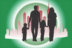 Family Walking. Family walk is always exciting Stock Illustration