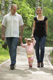 Family walking Royalty Free Stock Photo