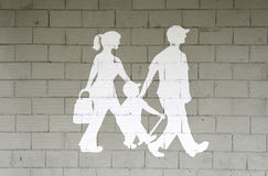 Family walking Stock Images