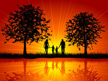 Family walking Stock Image