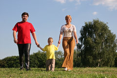 Family walking Stock Photo