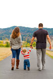 Family Walking Away Royalty Free Stock Photography