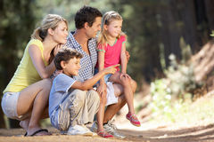 Family walking in country stock photography