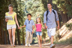 Family walking in country Royalty Free Stock Images