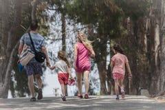 Family walking in Ephesus Turkey Stock Photography