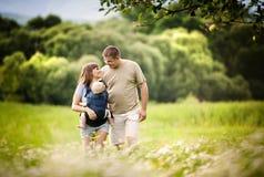 Family on the farm Stock Photos