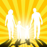 Family walking. Mom, dad and childrens Stock Image