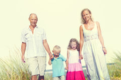 Family Walking Playful Vacation Travel Holiday Concept Royalty Free Stock Image