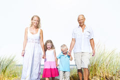 Family Walking Playful Vacation Travel Holiday Concept Royalty Free Stock Photos