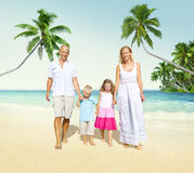 Family Walking Playful Vacation Travel Holiday Concept Stock Photo