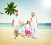 Family Walking Playful Vacation Travel Holiday Concept Royalty Free Stock Images