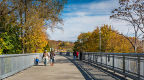 Family Walking - Poughkeepsie, NY stock image