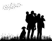 Family walking Royalty Free Stock Image