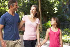 Family Walking Through Summer Park Royalty Free Stock Image