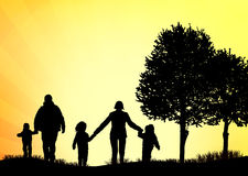 Family walking together Stock Image