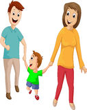 Family walking together Royalty Free Stock Photo