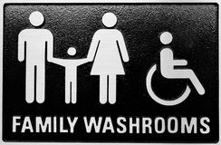 Family Washrooms Royalty Free Stock Image