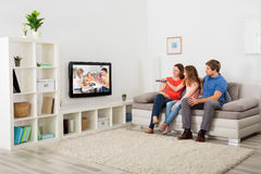 Family Watching Television Royalty Free Stock Photo