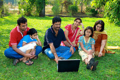 Family Watching The Laptop. Stock Image