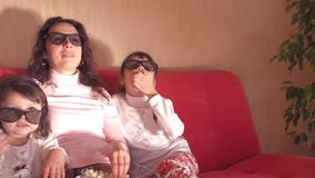Family watching TV. stock video footage