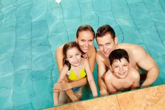 Family in water Stock Photo