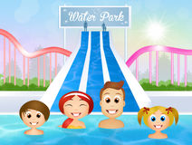 Family in water park Stock Image