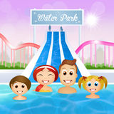 Family in water park Stock Photos