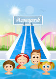 Family in the waterpark Royalty Free Stock Photography