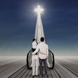 Family on the way to heaven 1 Stock Images