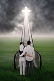 Family on the way to heaven 3 Royalty Free Stock Photo