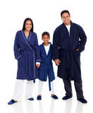 Family wearing pajamas Stock Photo