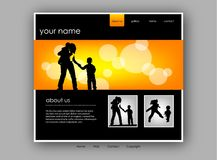 Family Website template, vector Royalty Free Stock Images