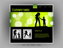 Family Website template, vector Stock Photos