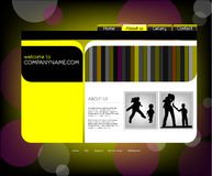Family website template, vector Stock Image