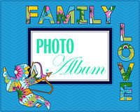 Family weddng album cover Stock Photo