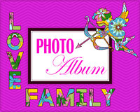 Family weddng album cover Stock Image
