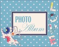 Family weddng album cover vintage Stock Photos
