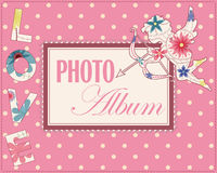 Family weddng album cover vintage Royalty Free Stock Photography