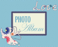 Family weddng album cover vintage Royalty Free Stock Photo