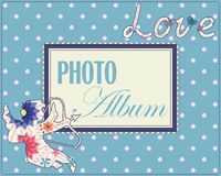 Family weddng album cover vintage Royalty Free Stock Photos