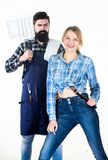 Family weekend. Sharing good time. Picnic barbecue. food cooking recipe. Tools for roasting meat. Couple in love hold royalty free stock image