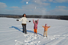 Family weekend in winter Stock Photography