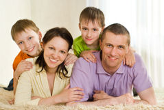 Family on a white Stock Images