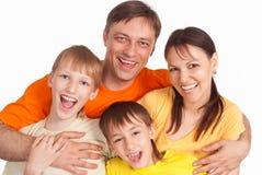 Family on white Royalty Free Stock Photos