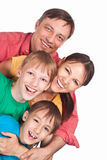 Family on white Stock Photography