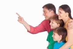 Family on white Royalty Free Stock Image