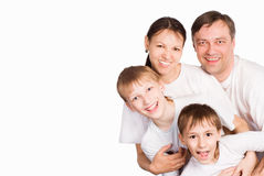 Family in white Royalty Free Stock Images