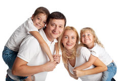 Family on white Royalty Free Stock Photo