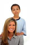 Family On White Background Royalty Free Stock Photos